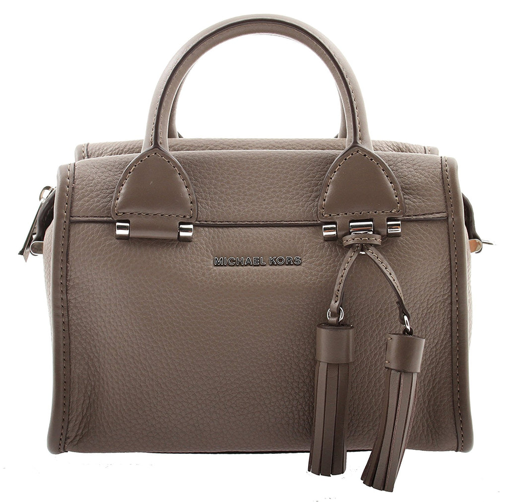 Michael Kors Geneva Large Leather Satchel - Cinder -