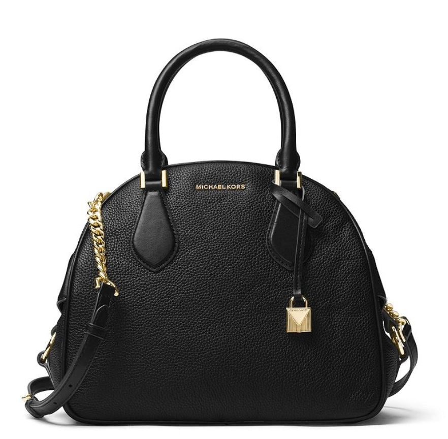 Michael Kors Briar Large Top Zip Bowling Bag - Black -