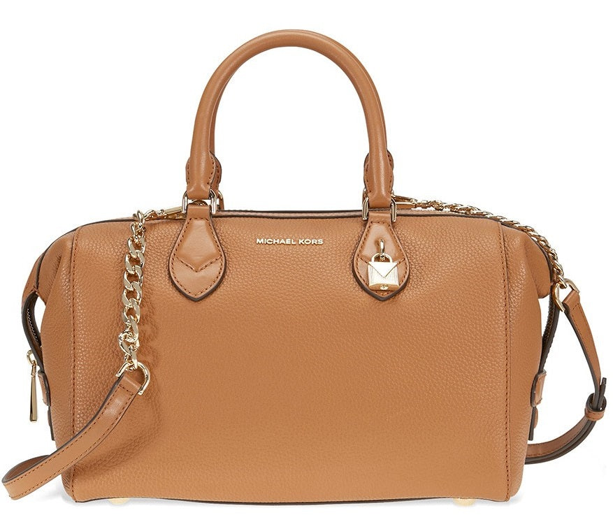 Michael Kors Grayson Leather Satchel - Acorn -