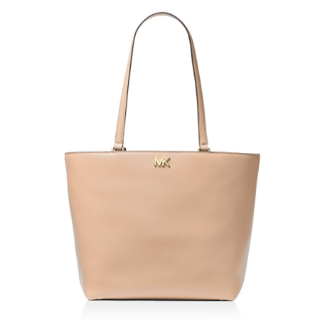 Michael Kors Mott Leather Tote - OYSTER -