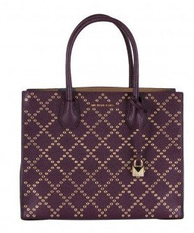 Michael Kors Studio Mercer Studded Grommet Convertible Tote - Purple -