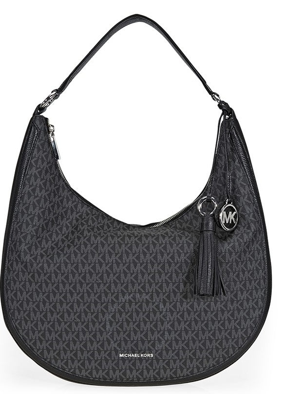 Michael Kors Lydia Logo Shoulder Bag - Black -