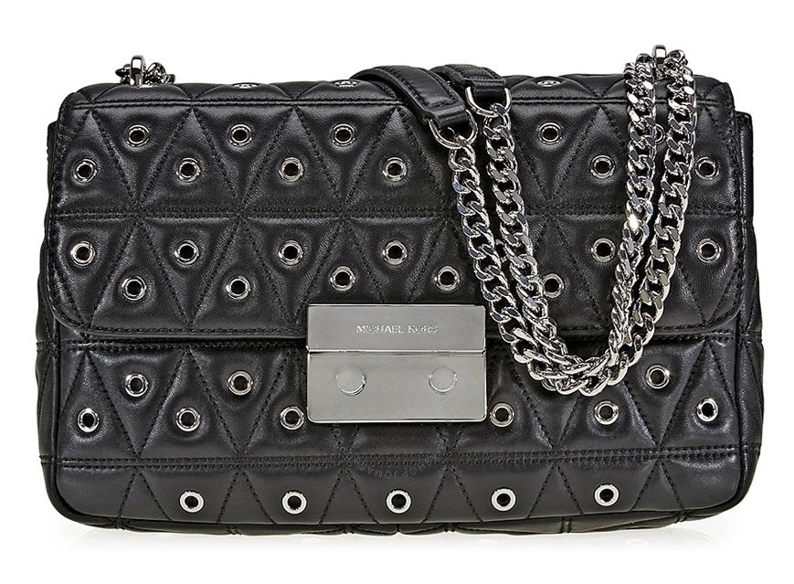 Michael Kors Studio Mercer Studded Grommet Convertible Tote - Black -
