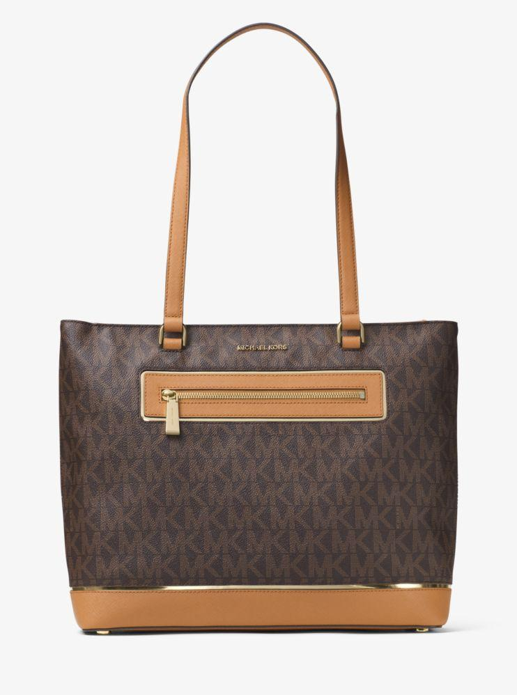 Michael Kors Jet Set Large Logo Tote - Brown -
