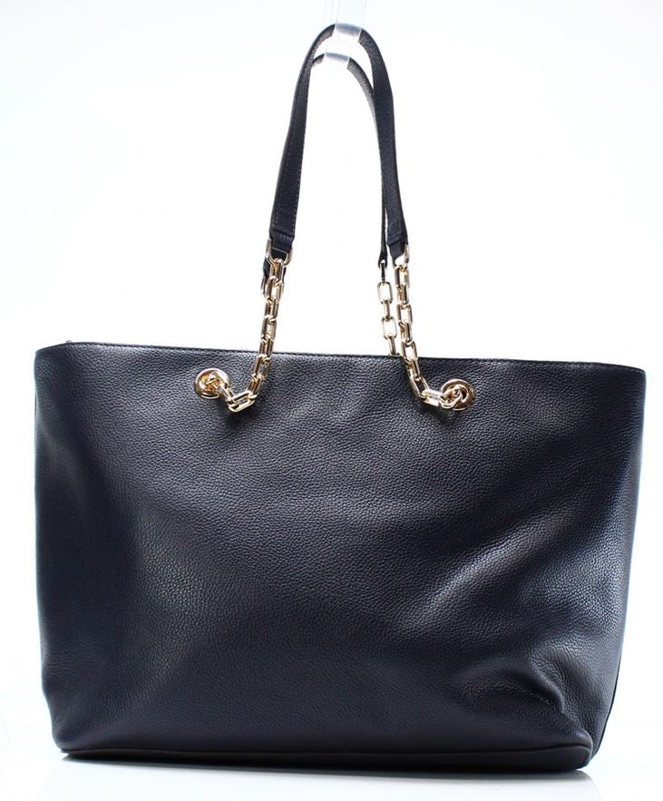 Michael Kors Mercer Medium Chain-link Leather Tote - Admiral -