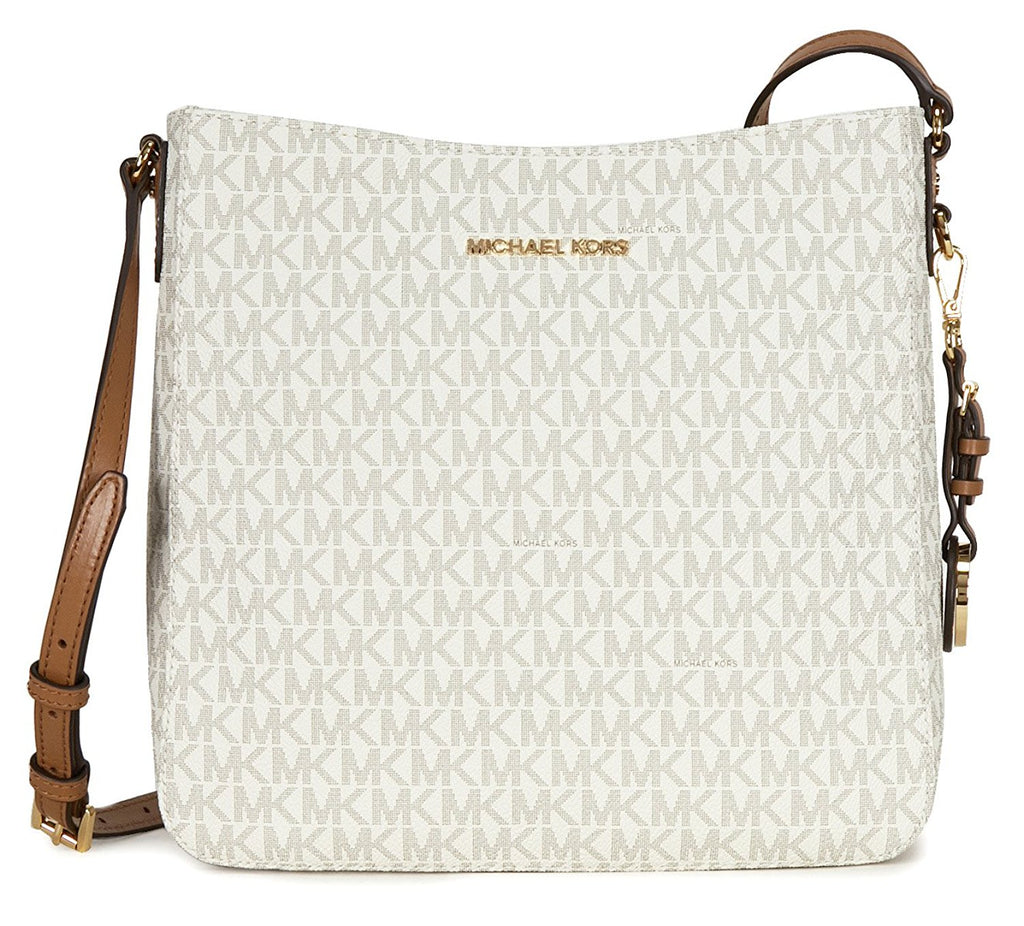 Michael Kors Jet Set Travel Large Logo Messenger - Vanilla -