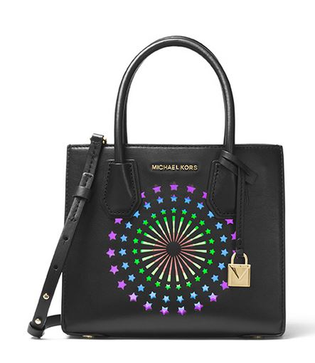 Michael Kors Mercer Modern Disco Leather Crossbody - Black -