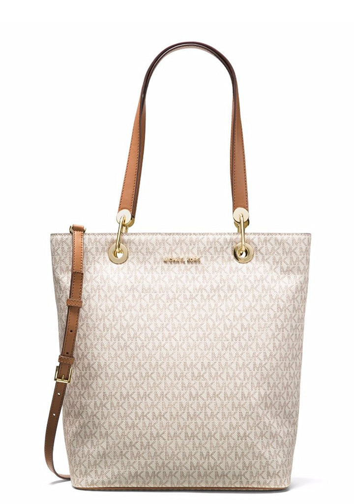 Michael Kors Raven Large North South Tote - Vanilla -