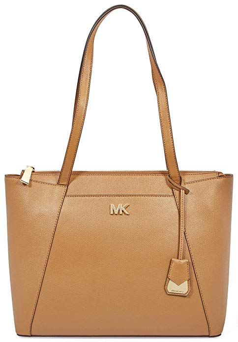 Michael Kors Maddie Medium Crossgrain Leather Tote - Brown -
