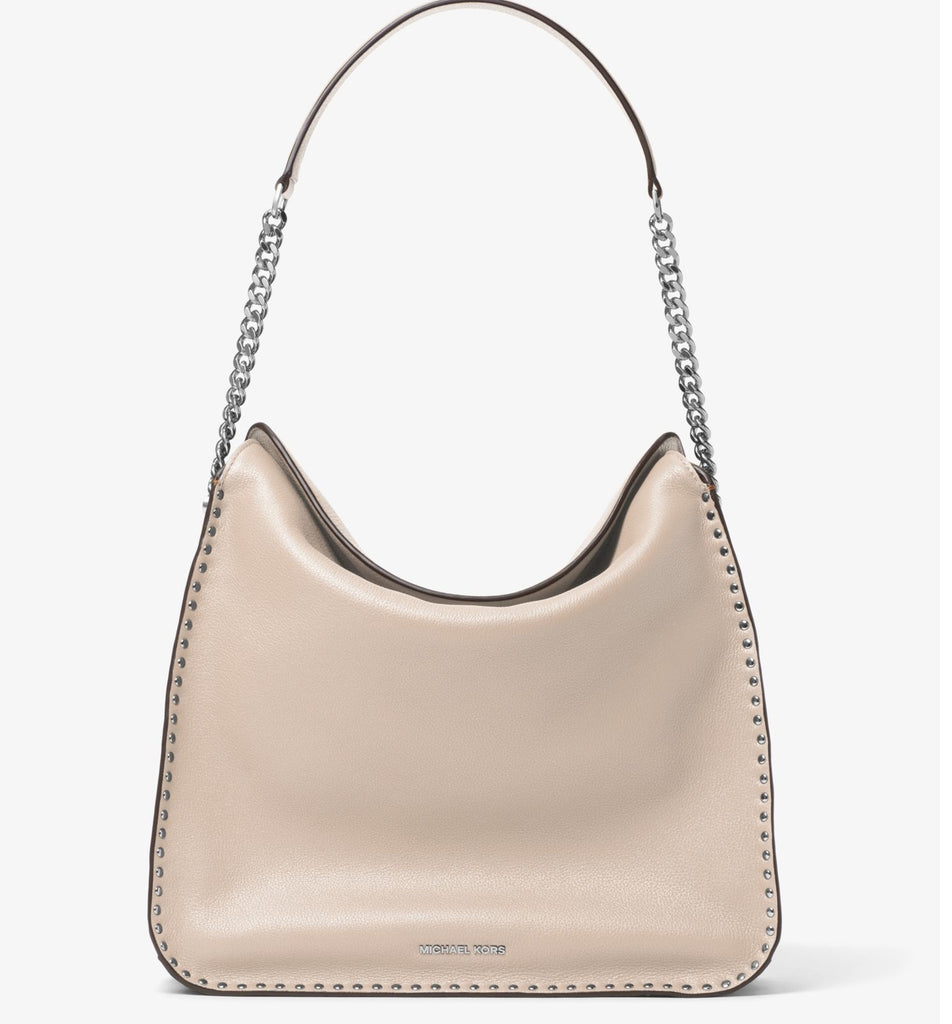 Michael Kors Astor Studded Large Hobo Bag - Cement -
