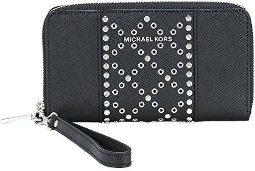 Michael Kors Jet Set Large Studded Wristlet - Black -