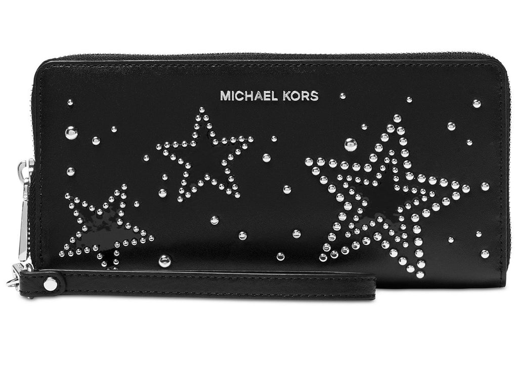 Michael Kors Travel Continental Wallet - Black -