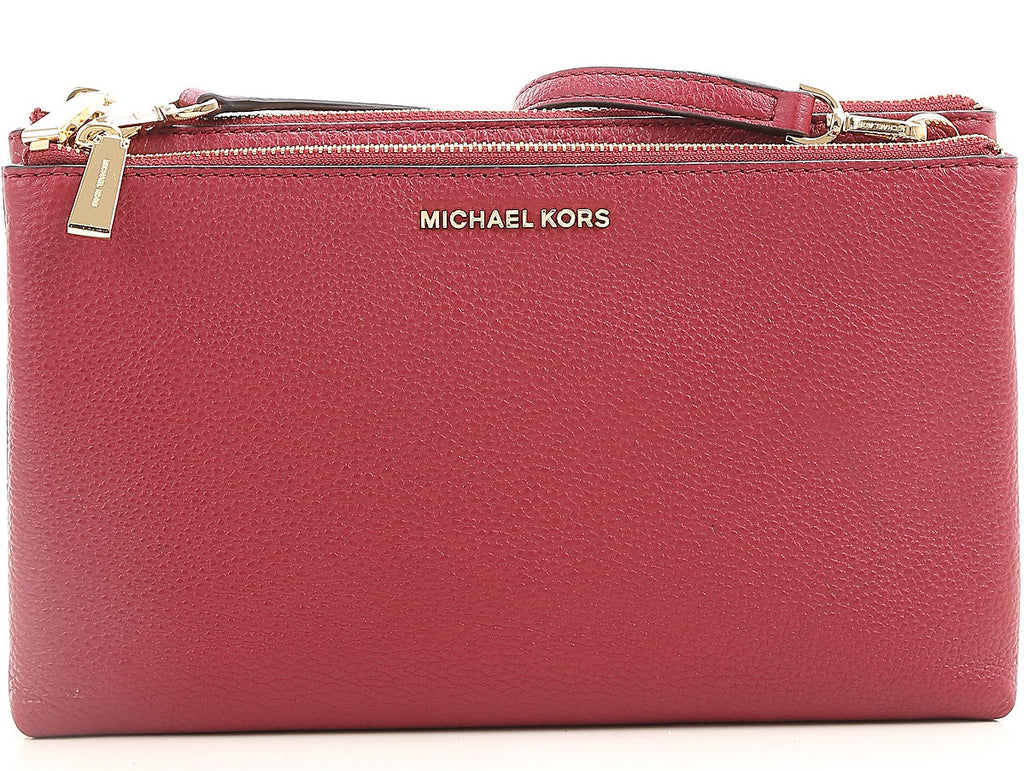 Michael Kors Adele Leather Crossbody - Mulberry -