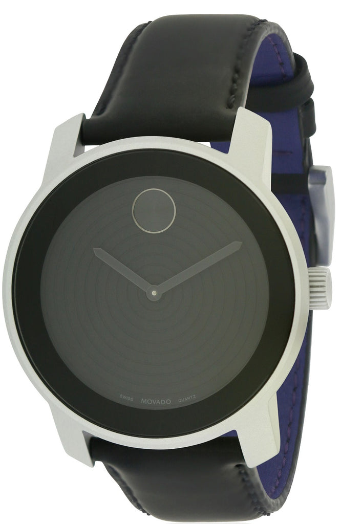 Movado Bold Aluminum Leather Unisex Watch