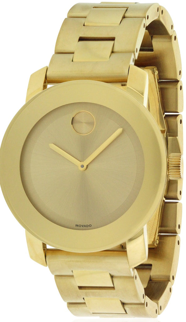Movado Bold Gold-Tone Unisex Watch