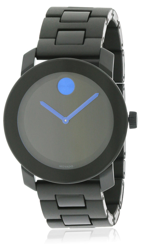 Movado Bold Large Black Mens Watch