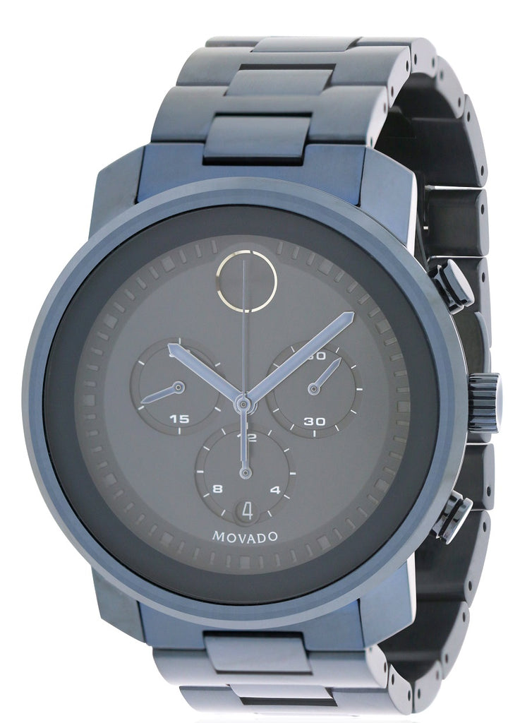 Movado Bold Blue Ion Chronograph Mens Watch