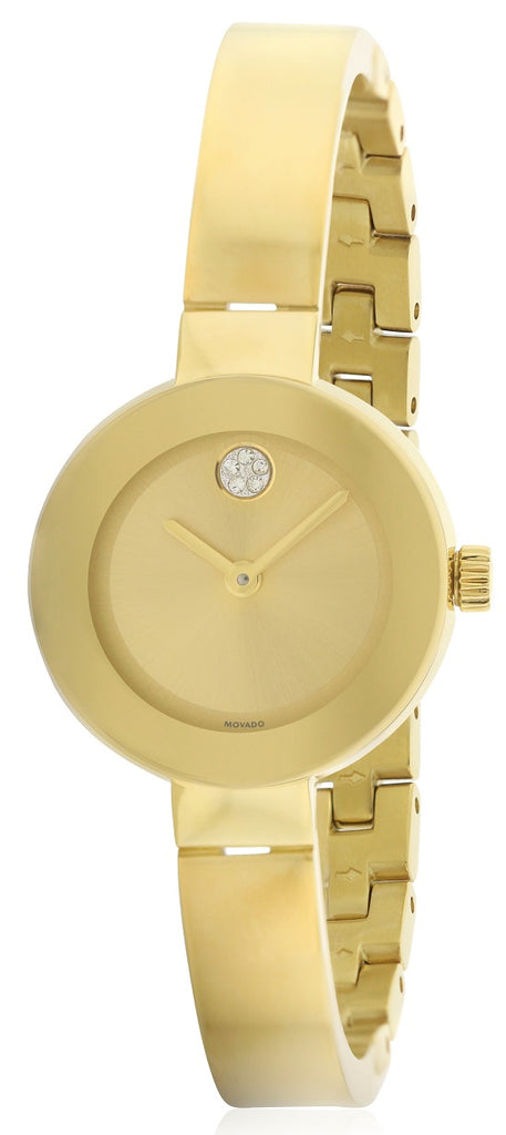 Movado Bold Gold-Tone Ladies Watch