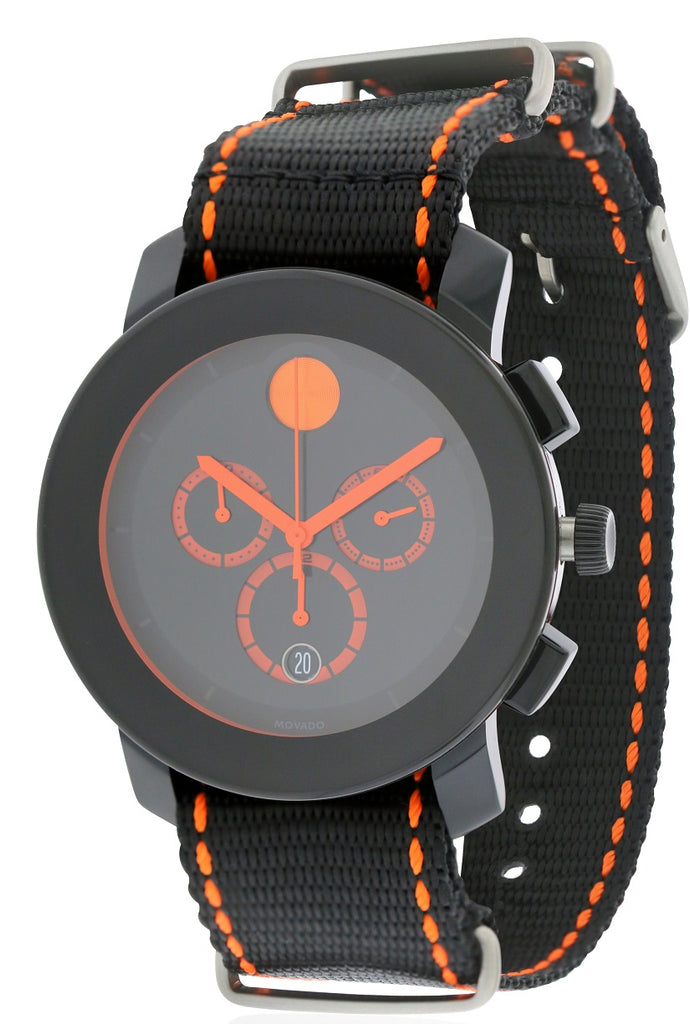 Movado Bold Nylon Chronograph Mens Watch