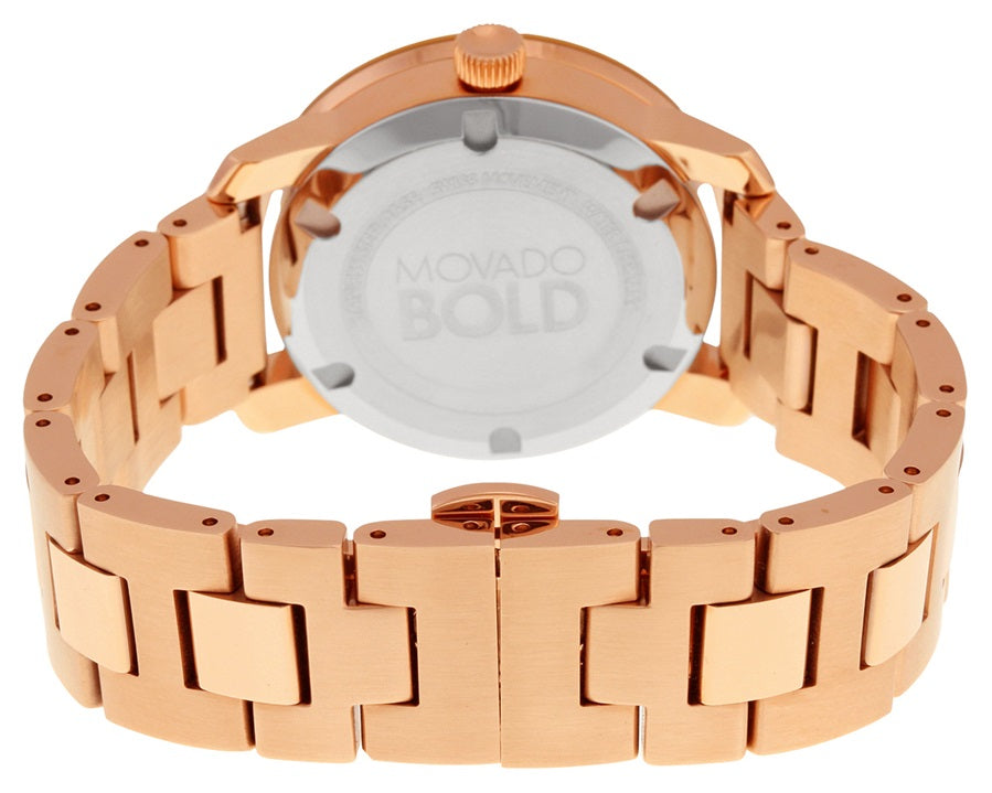 Movado Bold Rose Gold-Tone Ladies Watch