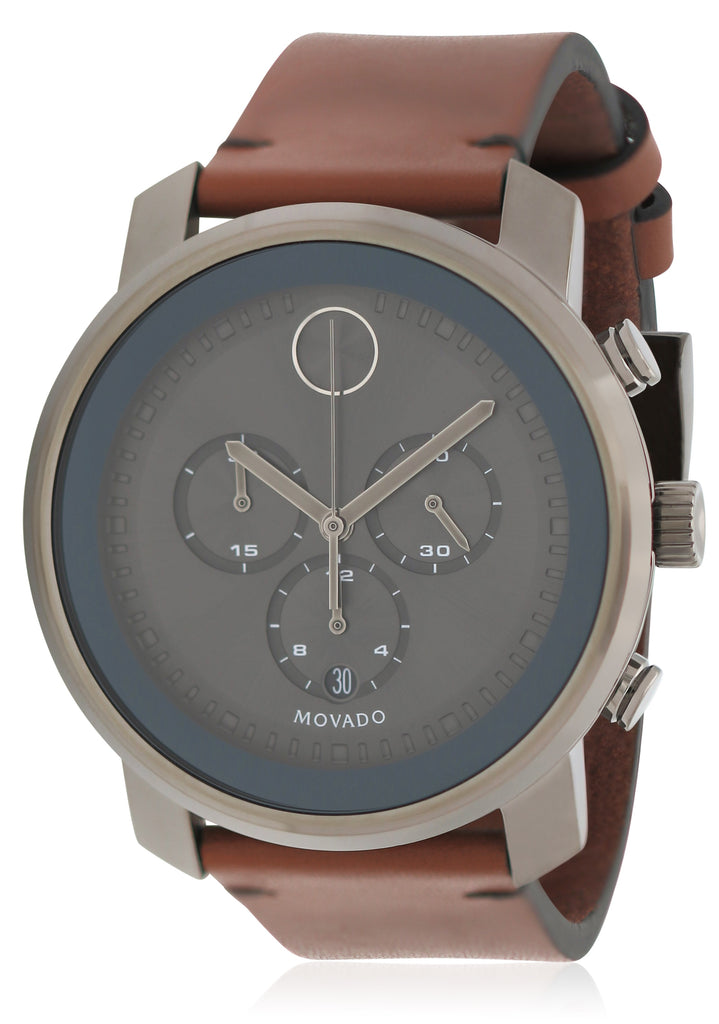 Movado Bold Chronograph Leather Mens Watch