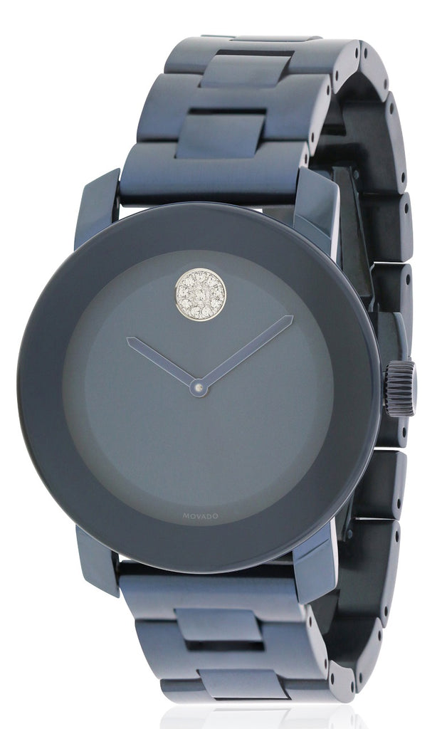 Movado Bold Blue Stainless Steel Unisex Watch