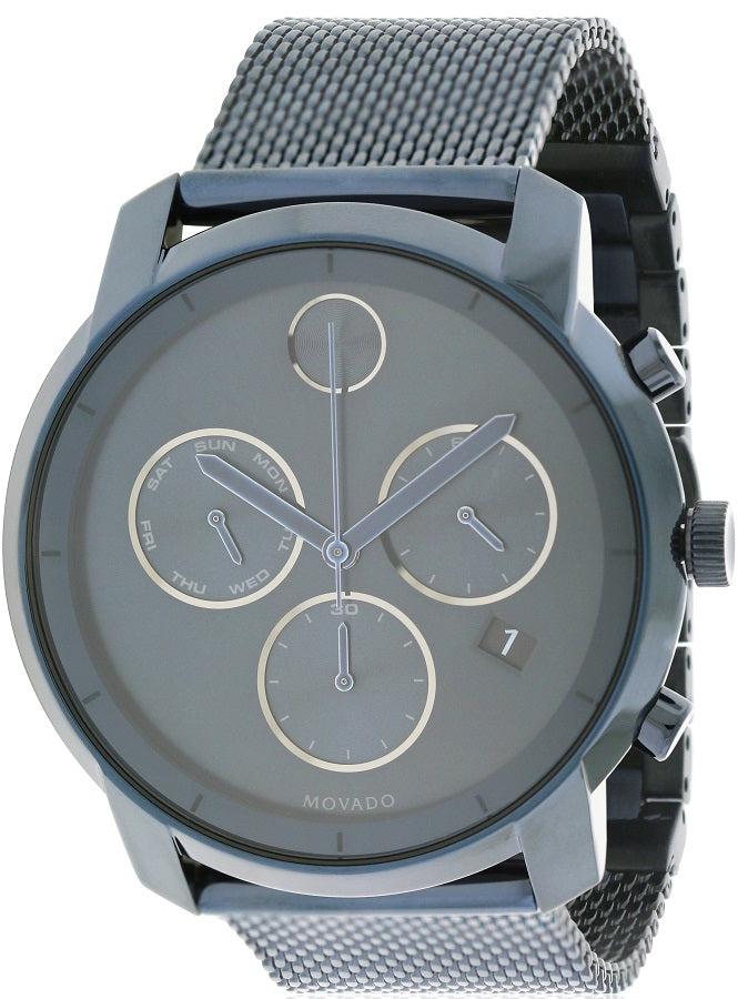 Movado Bold Ink Blue Chronograph Mens Watch