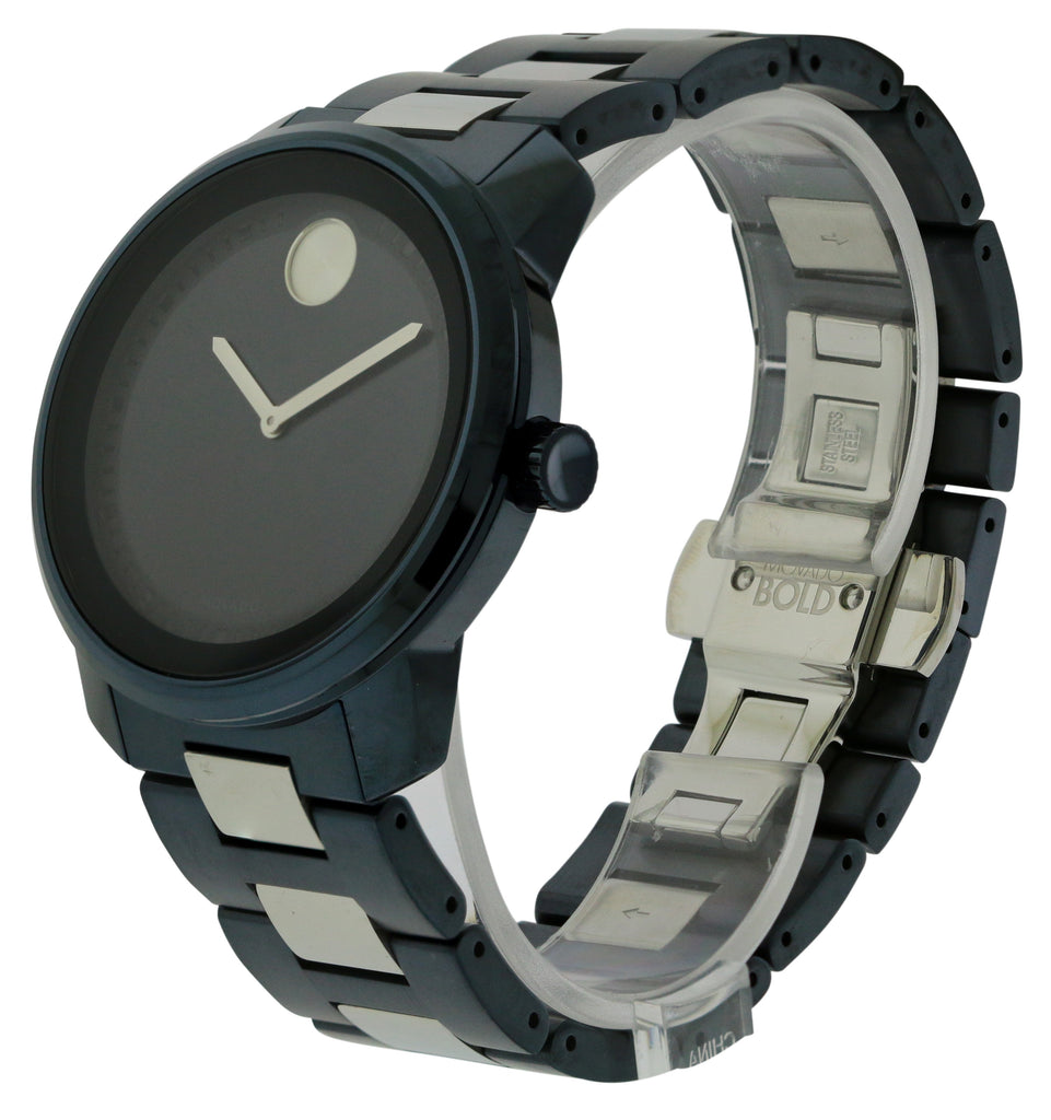 Movado Bold Blue Ion Mens Watch