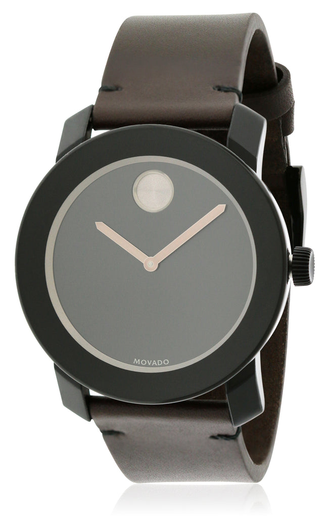 Movado Bold Brown Leather Mens Watch