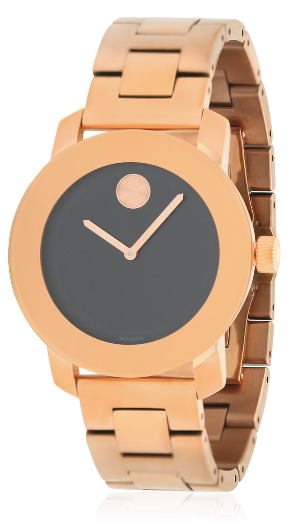 Movado Bold Rose Gold-Tone Unisex Watch