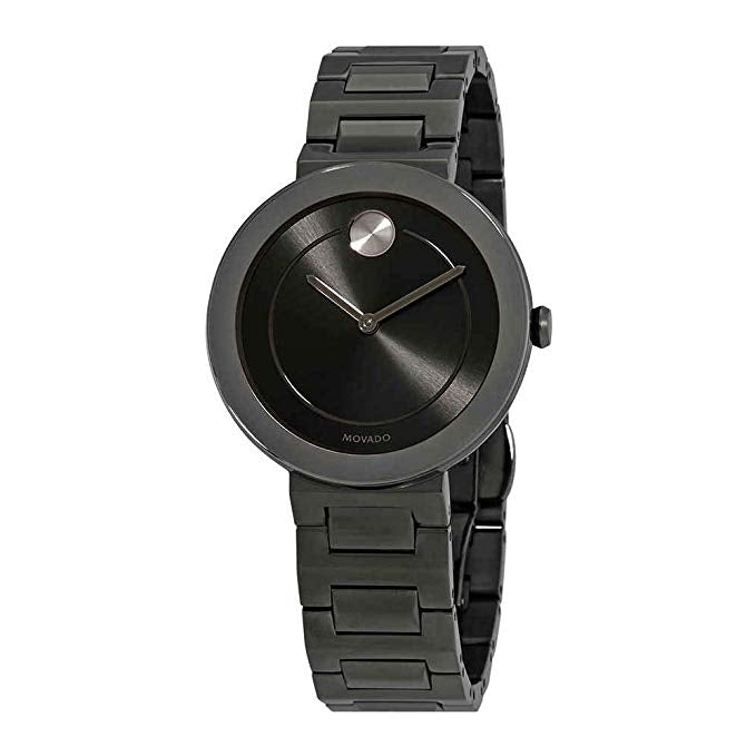 Movado Bold Gunmetal Ion Ladies Watch