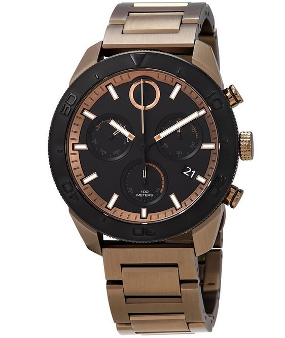 Movado Bold Khaki Ion Chronograph Mens Watch