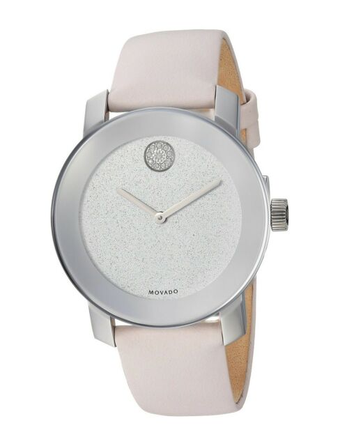 Movado Bold Blush Leather Ladies Watch 360052