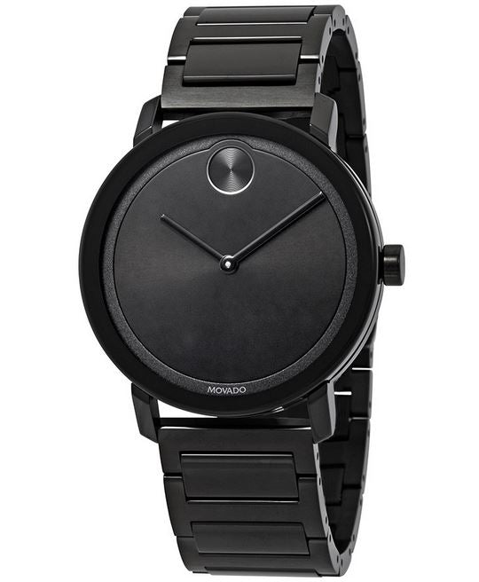 Movado Bold Black Mens Watch