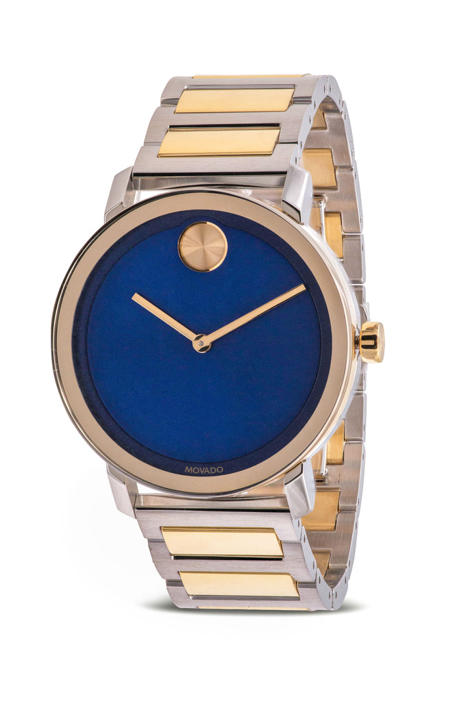 Movado Bold Caribbean Blue Dial Mens Watch