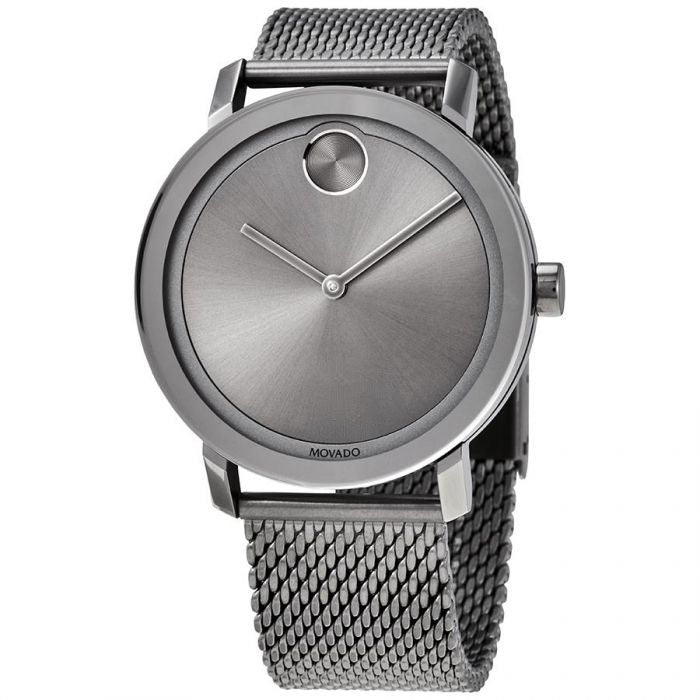 Movado Bold Grey Ion Mesh Mens Watch