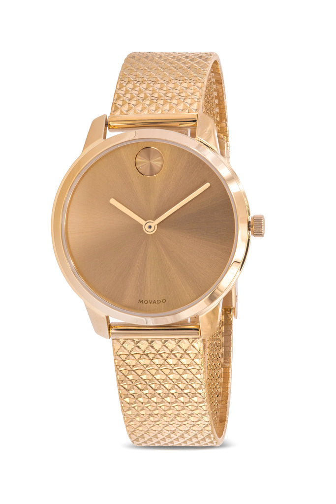 Movado Bold Gold-Tone Mesh Ladies Watch