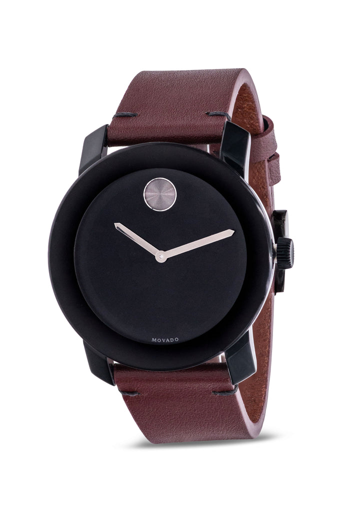 Movado Bold Leather Mens Watch