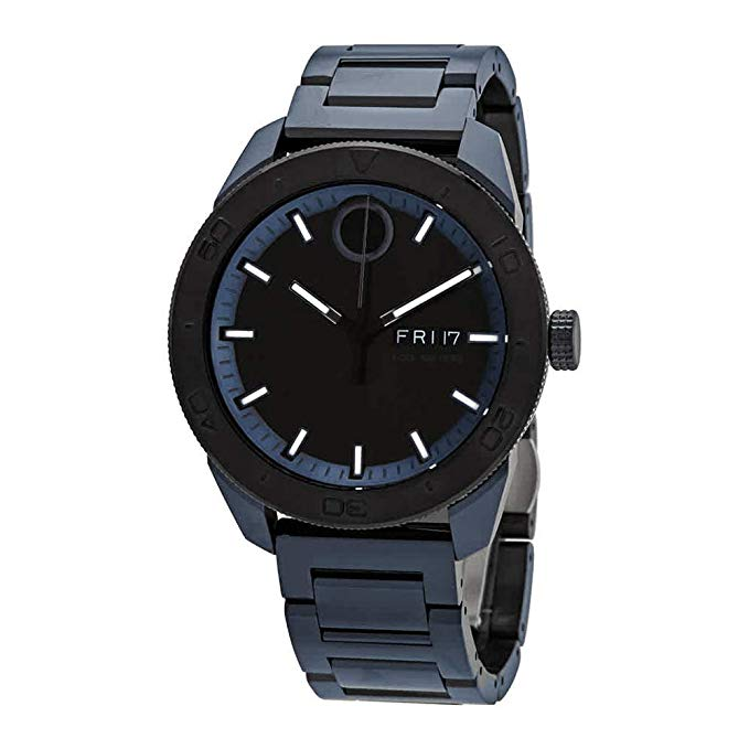 Movado Bold Blue-Tone Mens Watch