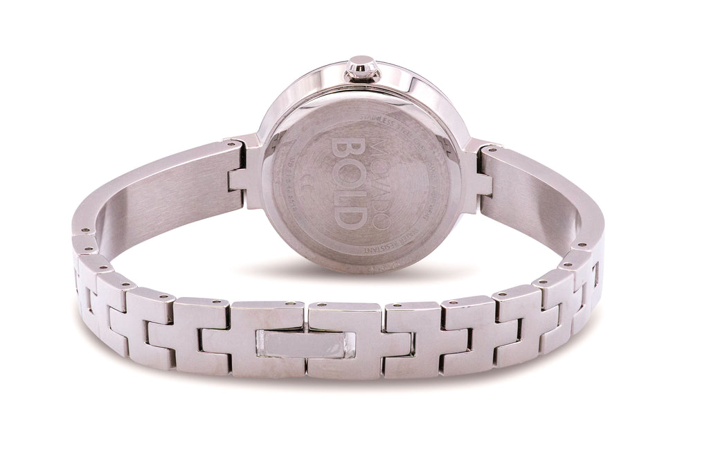 Movado Bold Stainless Steel Bangle Ladies Watch