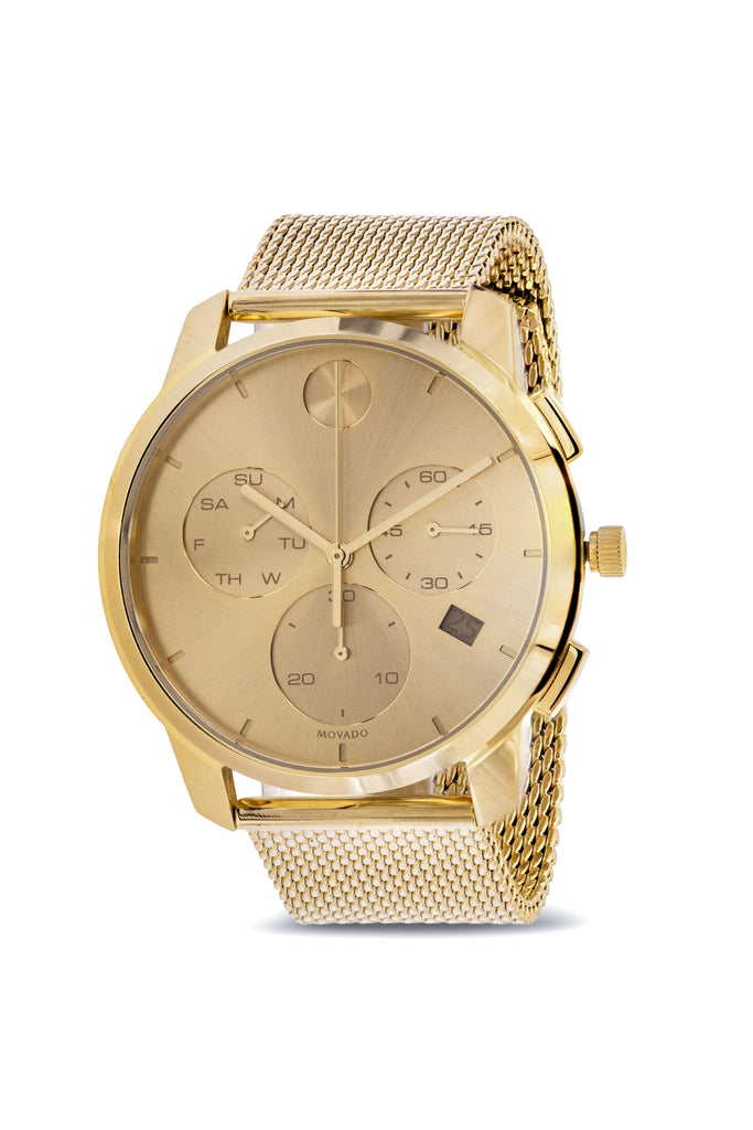 Movado Bold Thin Chronograph Gold-Tone Mens Watch