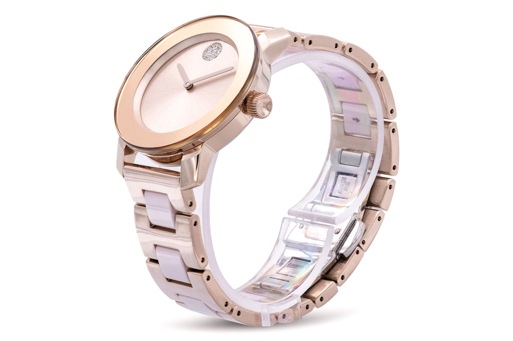Movado Bold Iconic Pale Rose Gold-Tone Ladies Watch