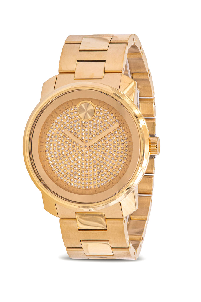 Movado Bold Yellow Gold Ion Stainless Steel Mens Watch