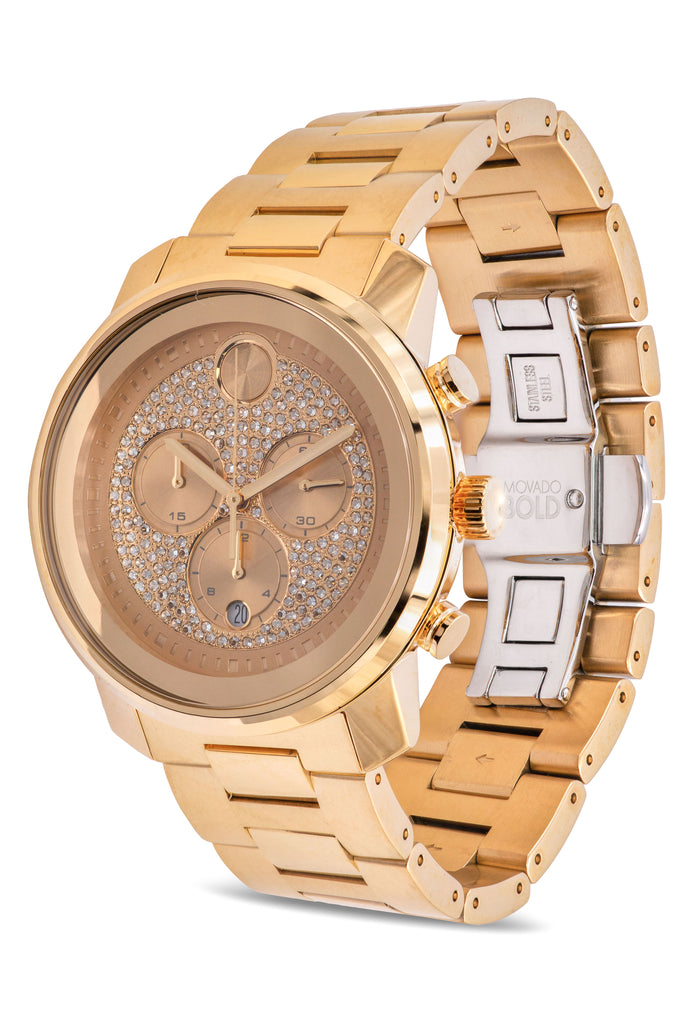 Movado Bold Metals Chronograph Gold-Tone Mens Watch