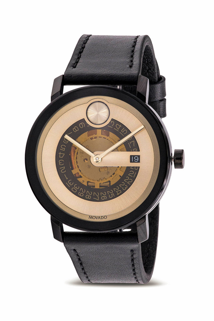 Movado Bold Evolution Leather Mens Watch