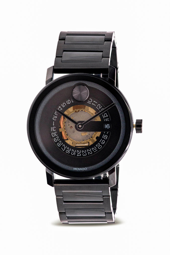 Movado Bold Evolution Black IP Mens Watch