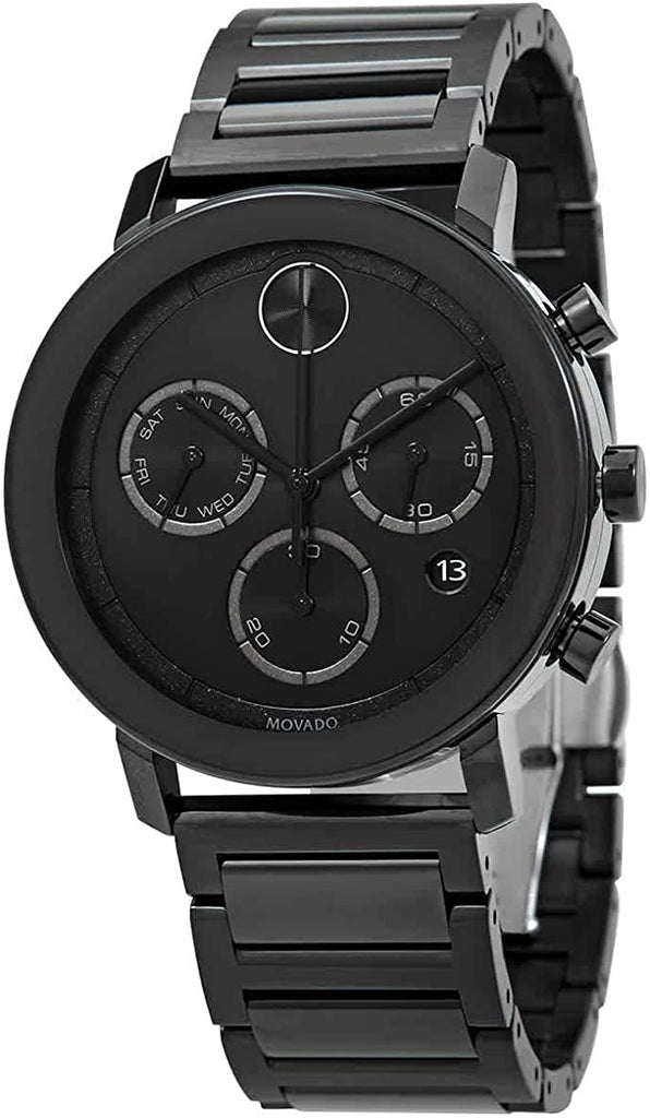 Movado BOLD Evolution Chronograph Black Ion Mens Watch