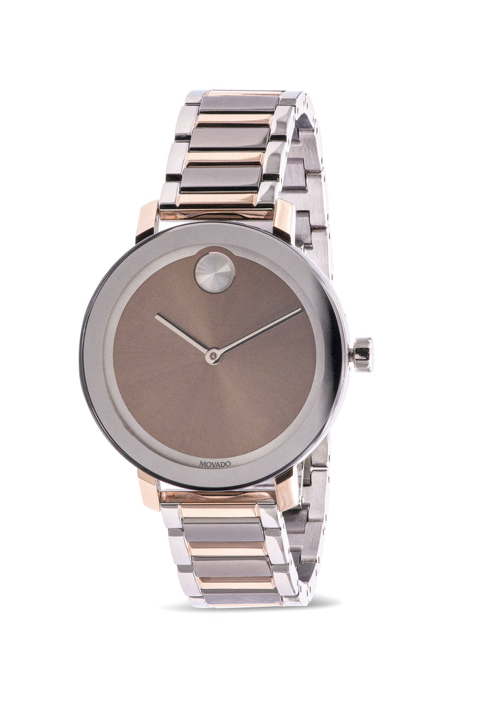 Movado Bold Evolution Tri-Color Stainless Steel Ladies Watch