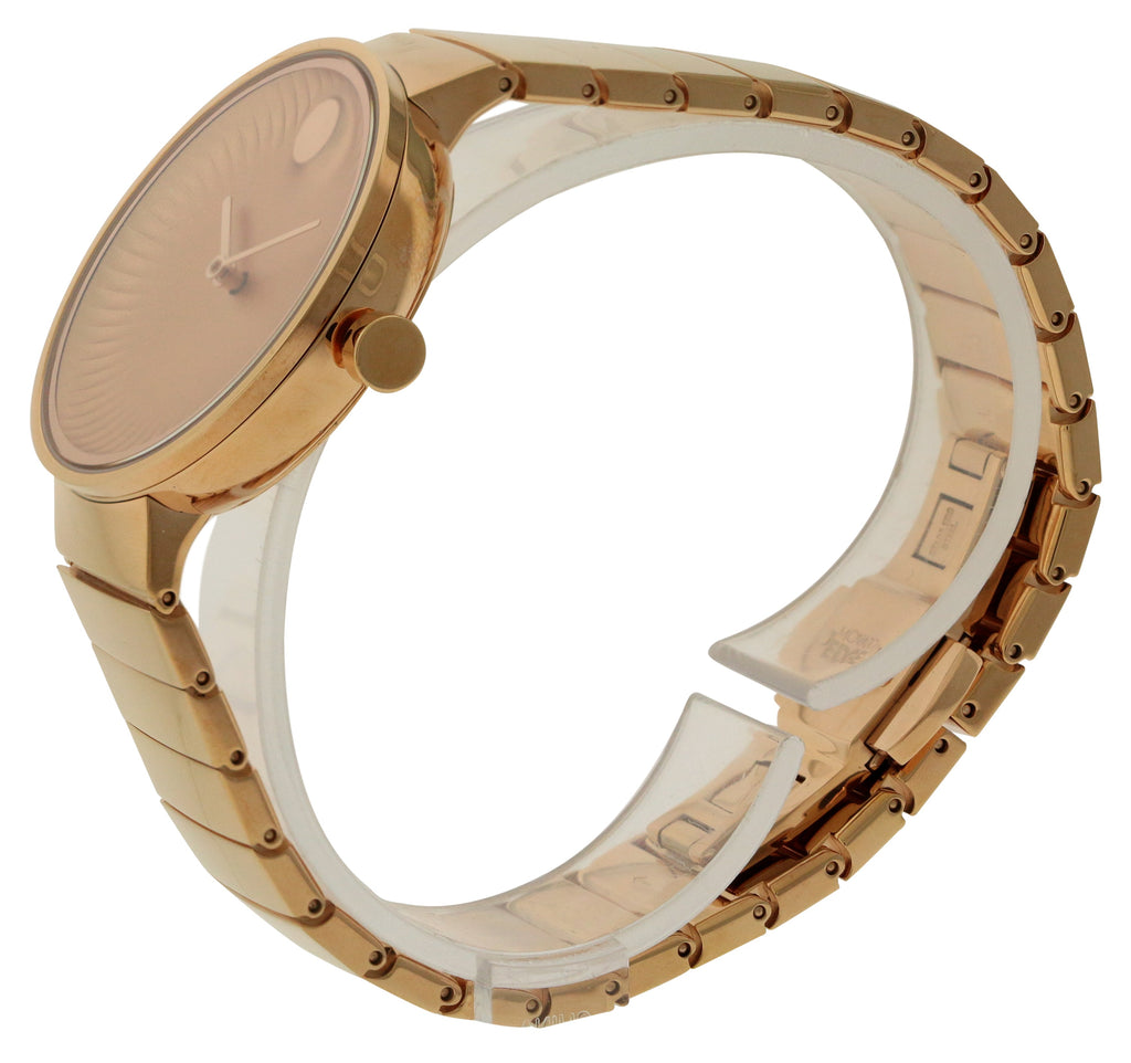 Movado Edge Rose Gold-Tone Ladies Watch
