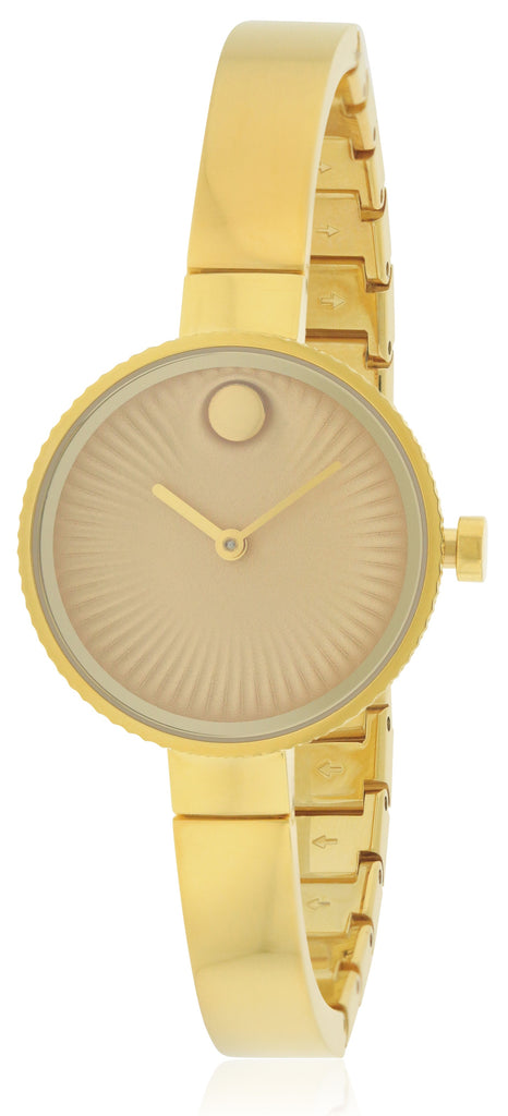 Movado Edge Gold-Tone Stainless Steel Ladies Watch
